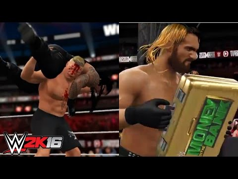 WWE 2K16 Simulation - Brock Lesnar vs Roman Reigns | WrestleMania 31
