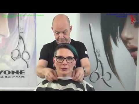 Hairdresser - Disconnect asymmetric clipper cut tattoo hairstyle!!! Hortense TKS tutorial