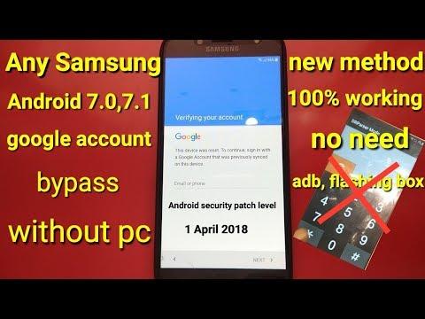 Samsung J7 Pro( j730f,j730g,j730gm) 7.0 frp unlock 2018 without flash