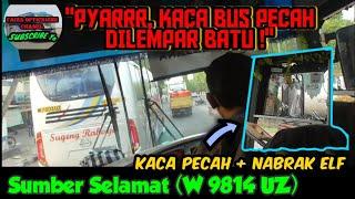 """Video """"PYAARR, KACA PECAH DILEMPAR BATU""""   Trip report bus SUMBER SELAMAT (W 9814 UZ) Dermaga Biru MP3, 3GP, MP4, WEBM, AVI, FLV Januari 2019"""