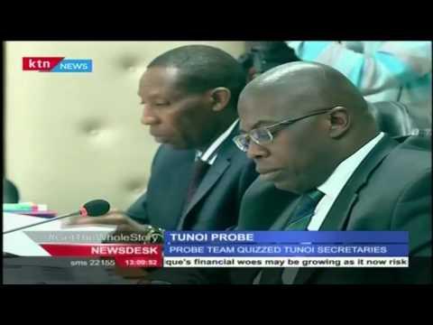 Philip Tunoi and Evans Kidero secretaries questioned by the Tunoi tribunal