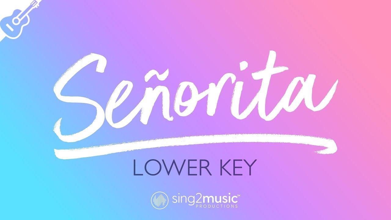 Señorita (Acoustic Guitar Karaoke) Shawn Mendes & Camila Cabello