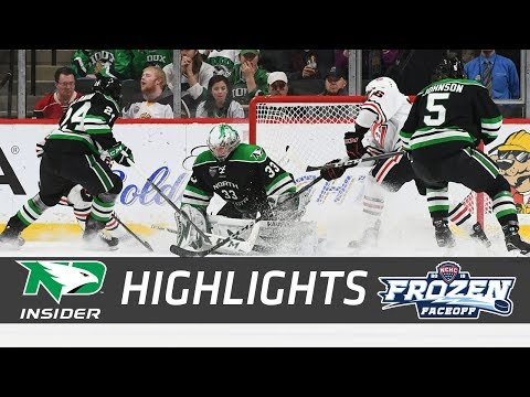 North Dakota vs. St. Cloud State | NCHC Semifinal | UND Hockey Highlights | 3/16/18 (видео)