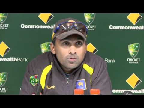 Mahela at the presentation ceremony, 2nd Final, Adelaide, CB Series, 2012