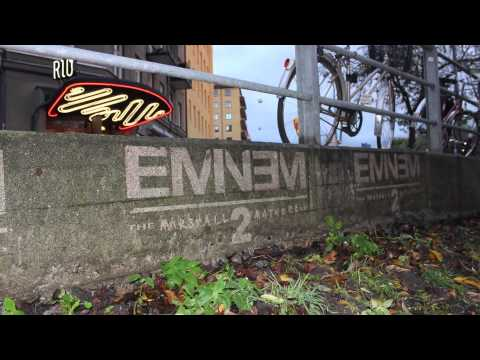 Eminem – MMLP2 | Reverse graffiti in Sweden