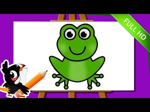 Learn How To Draw A Frog | Easy Step By Step Frog Drawing Tutorials For Kids | Learn Drawing