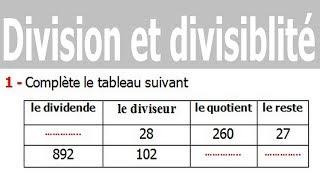 Maths 6ème - Division et divisibilité Exercice 12