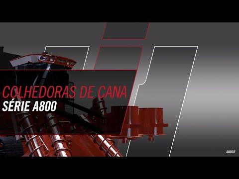 Nova linha de colhedora de cana série A8000 Case IH