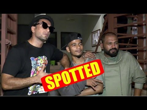 Ranveer Singh With Rapper Spotted At Bandra