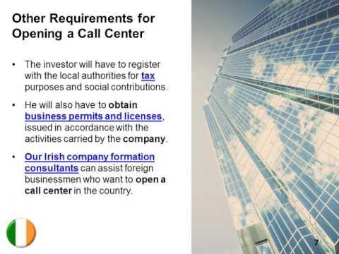 Open a Call Center in Ireland