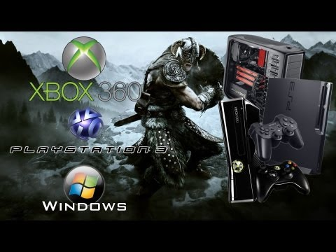 Elders Scroll's Skyrim - Xbox 360, Ps3 & PC comparison Video