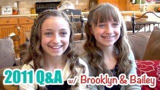 Brooklyn & Bailey 2011 Q&A | 5-Year Throwback by Brooklyn and Bailey