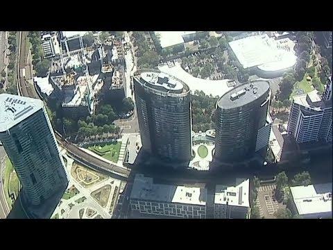 Hochhaus in Sydney vorsorglich nach Knackgeräuschen geräu ...