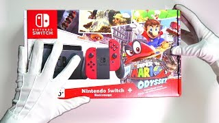 Nintendo Switch Limited Edition Console Unboxing (Super Mario Odyssey) Doom & Skyrim