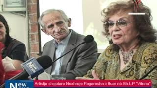 Artistja Shqiptare Nexhmije Pagarusha E Ftuar Në Sh.L.P