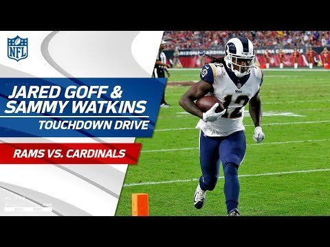 Video: Jared Goff & Sammy Watkins Help Pad Rams Lead on TD Drive! | Rams vs. Cardinals | NFL Wk 13
