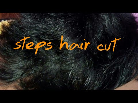 Hair cutting - Very easy style to cut steps cutting in short hair