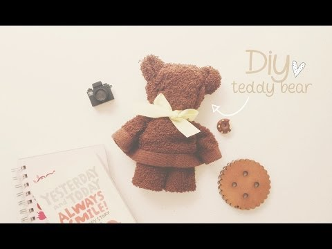 她只是用了一條毛巾就做出萌到爆炸的可愛泰迪熊,超簡單的方法連手殘人都驚呼自己成功了!