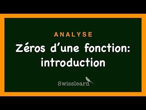 comment trouver le zero d'une fonction