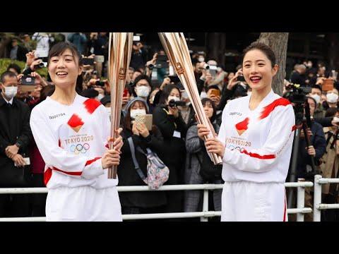 Testlauf: Die olympische Fackel ist in Japan unterwegs
