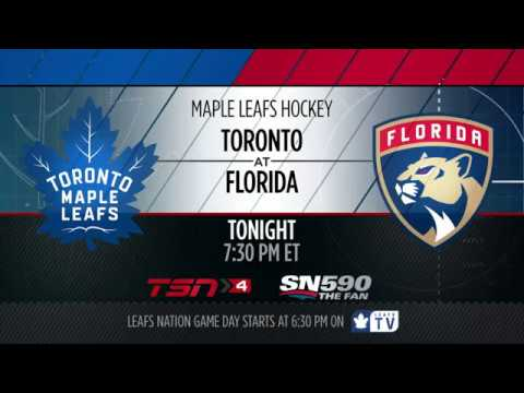Maple Leafs Game Preview: Toronto at Florida - March 14, 2017