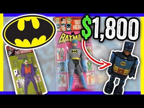 VINTAGE BATMAN TOYS WORTH MONEY - VINTAGE ITEMS TO SELL ON EBAY!!