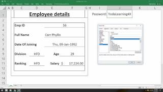 Hide Password in Protected Excel Form - Using this trick user with the password can only access the details.This should be useful if you're you have confidential user data in excel.Click here a link to download working Files used in the webinar: https://goo.gl/FsOGLnHere is the link to claim a spot for next webinar - http://yodalearning.com/askyoda-webinar-series/We will be live sharp at 8:30 am EST (7 pm IST or 9:30 pm SGT).