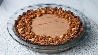 Crispy Rice Chocolate Hazelnut Mousse Pie • Tasty by Tasty