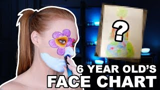 A 6 Year Old Made My Face Chart by Madeyewlook