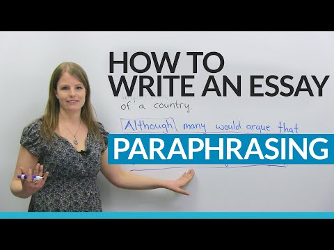 How to write a good essay: Paraphrasing the question
