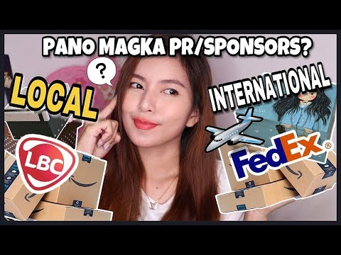 Tips! Paano Magka Pr Or Sponsors?! Free Products?!