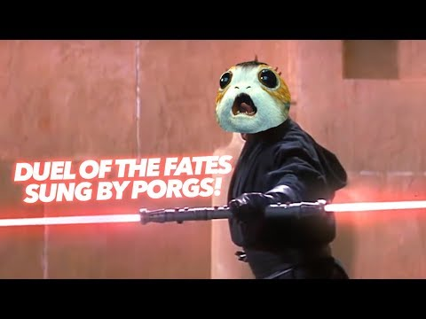 Awesome: Listen To Star Wars' 'Duel Of The Fates' Sung By Porgs