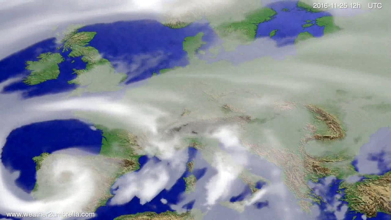 Cloud forecast Europe 2016-11-21