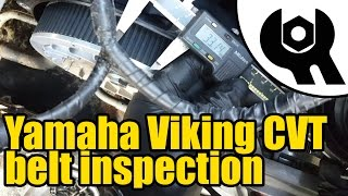 9. #1007 - Yamaha Viking CVT drive belt inspection