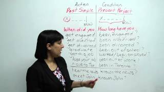 Past Simple and Present Perfect, Learn English with Rebecca