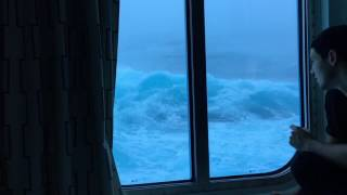 Video Anthem Of The Seas Vs Huge Waves And 120 MPH Winds. Viewed From My Room On The Third Deck. NO MUSIC! MP3, 3GP, MP4, WEBM, AVI, FLV Oktober 2018