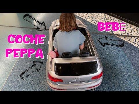 Peppa Pig y Bebé Humano viajan en coche por el centro comercial  Vídeos de Peppa Pig en español