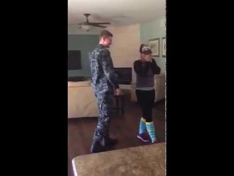 US Navy Sailor Surprises Gilbert, AZ Mom for Christmas!
