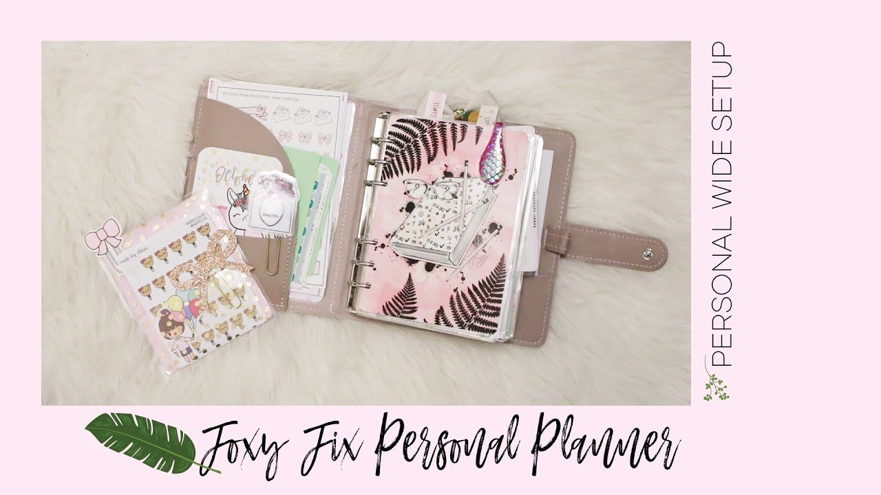 Foxy Fix Personal Ring Planner - Personal Wide Setup