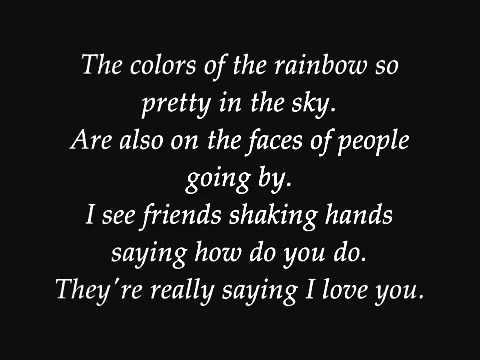 Louis Armstrong   What a wonderful world Lyrics   YouTube