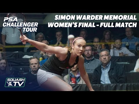 Squash: Cornett v Turmel - Women's Final - Full Match - Simon Warder Memorial 2018