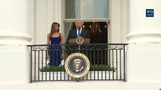 President Trump and The First Lady Participate in a Military Families Picnic