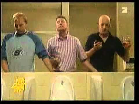 3 men in a toilet banned advert. funny