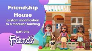 Renovating the Lego Friends Friendship House - modification build part 1