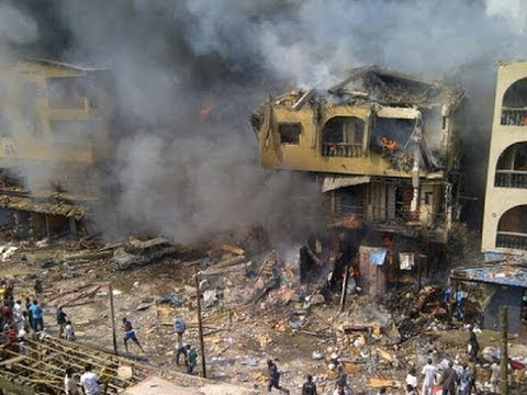 Video:One dead as 15 houses burn in Lagos explosion -Channelstv