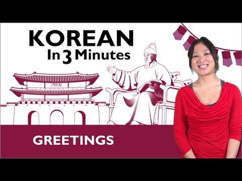 Begrüßen auf Koreanisch