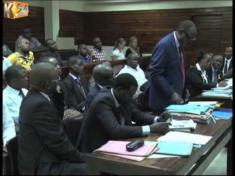 3 lawyers who engaged in a fierce fist fight  at the Mombasa law court apologize before justice Murithi
