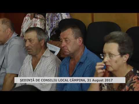 Ședința Consiliului Local Câmpina din 31 august 2017