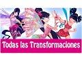 Winx Club - Todas Las Transformaciónes de Musa! Español Latino