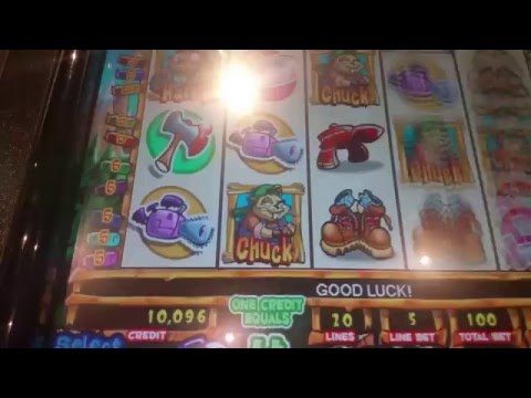 Dam Lunberjack Beavers slot machine at Harrah's casino